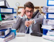 Busy buisnessman under stress