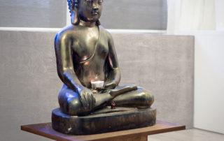 statue at Charlotte Meditation